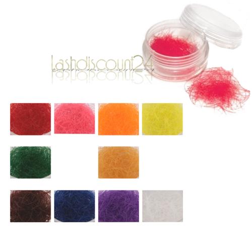 Einzelwimpern Farbige Wimpern 12 verschiedene Farben C-Curl 0,20 x10 ...